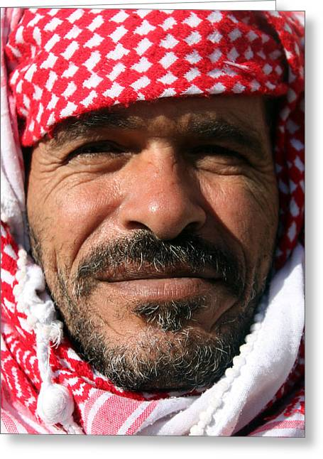 Jordanian Greeting Cards - Jordanian Man Greeting Card by Munir Alawi