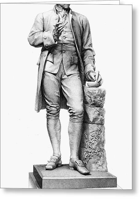 Statue Portrait Photographs Greeting Cards - Joseph Priestley (1733-1804) Greeting Card by Granger