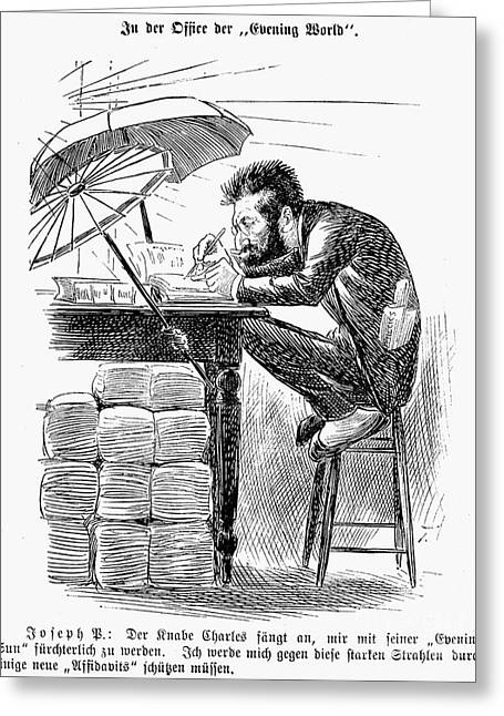 Newspaper Publisher Greeting Cards - Joseph Pulitzer (1847-1911) Greeting Card by Granger