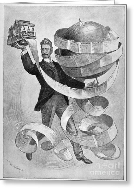 Newspaper Publisher Greeting Cards - Joseph Pulitzer Greeting Card by Granger