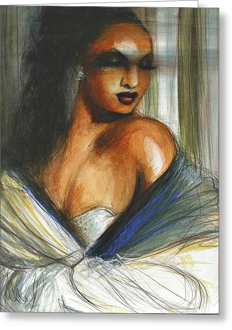 Scandalous Greeting Cards - Josephine Greeting Card by Gregory DeGroat