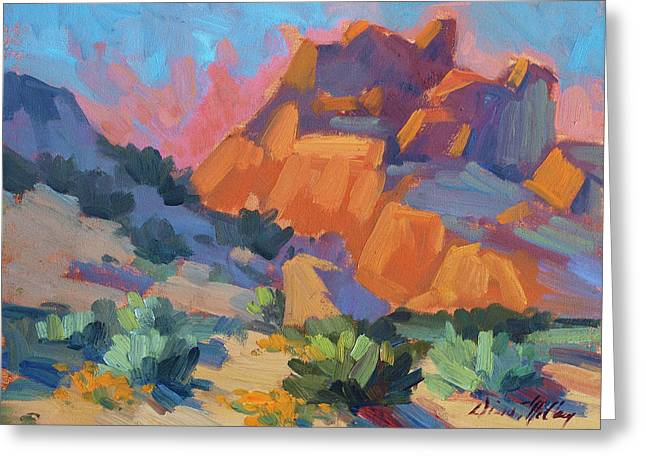 Hiking Paintings Greeting Cards - Joshua Afternoon Greeting Card by Diane McClary