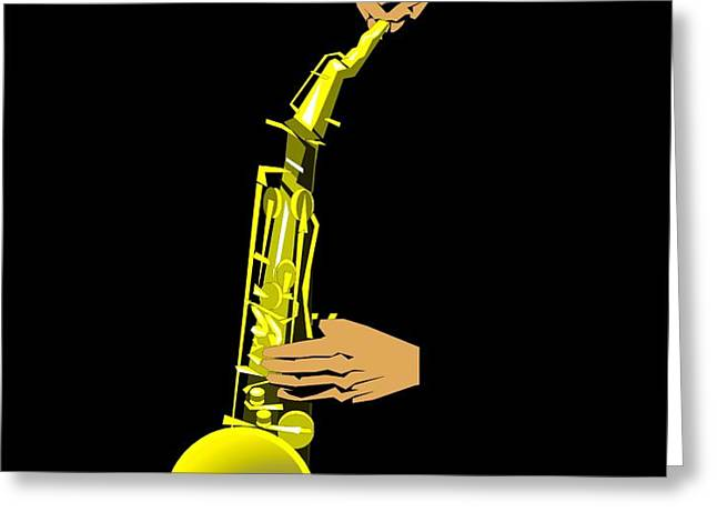Joshua Redman Greeting Card by Walter Oliver Neal
