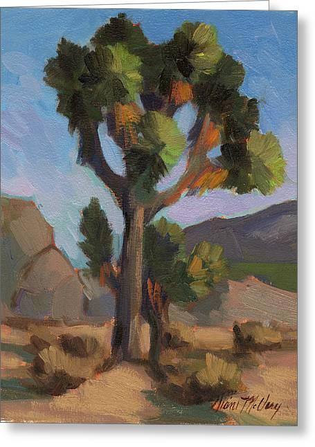 High Desert Greeting Cards - Joshua Tree 2 Greeting Card by Diane McClary