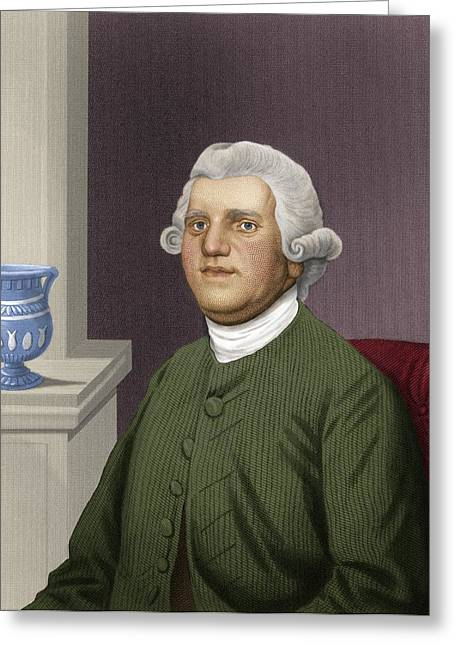 Slavery Greeting Cards - Josiah Wedgwood, British Industrialist Greeting Card by Maria Platt-evans