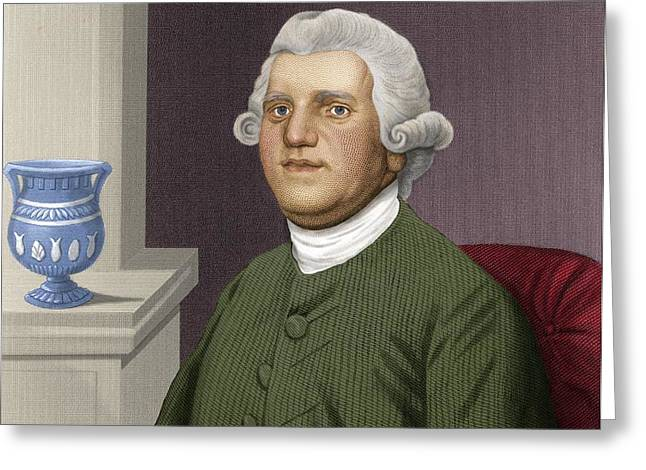 Josiah Wedgwood, British Industrialist Greeting Card by Maria Platt-evans