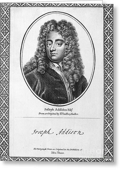 Autograph Greeting Cards - Jospeh Addison (1672-1719) Greeting Card by Granger