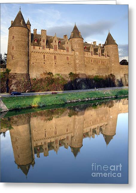 Moat Greeting Cards - Josselin Chateau Greeting Card by Jane Rix