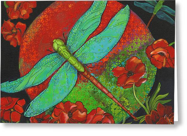 Dragonfly Art Greeting Cards - Journey At Dawn Greeting Card by Debbie McCulley