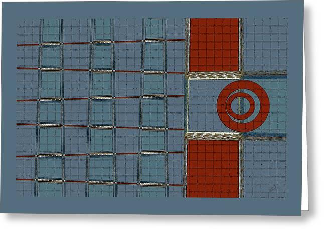 Geometric Digital Art Greeting Cards - Journey Greeting Card by Ben and Raisa Gertsberg