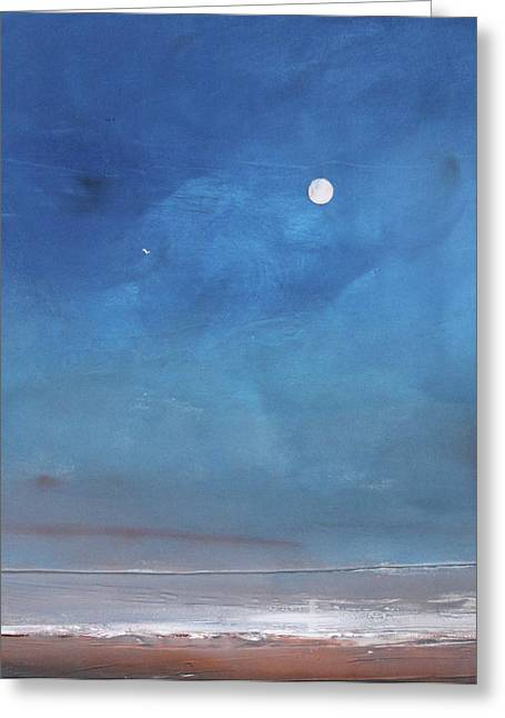 Moon Beach Greeting Cards - Journey Home Greeting Card by Toni Grote