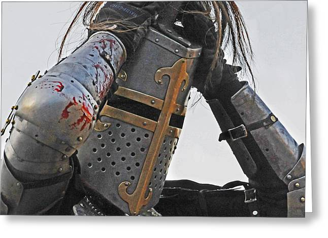 Guinevere Photographs Greeting Cards - Joust 04 Greeting Card by Jeff Stallard