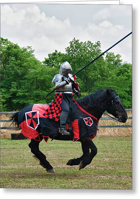 Hawk Creek Greeting Cards - Joust 7516 Greeting Card by Guy Whiteley