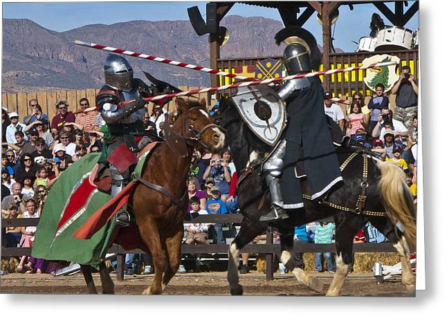 Renaissance Fairs Greeting Cards - Joust to the end... Greeting Card by Jon Berghoff