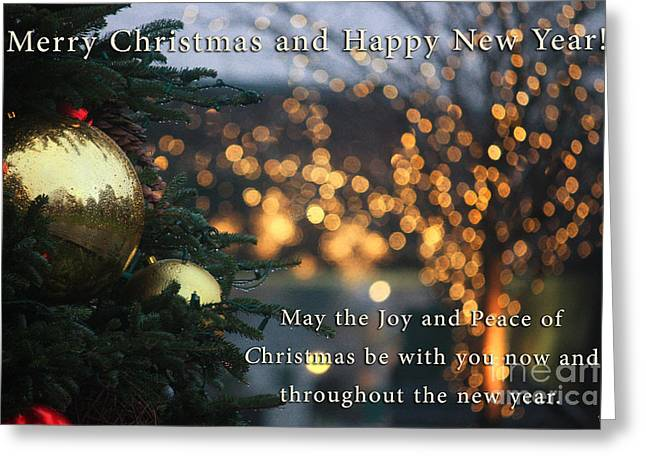 Christmas Posters Photographs Greeting Cards - Joy and Peace of Christmas Greeting Card by Nishanth Gopinathan