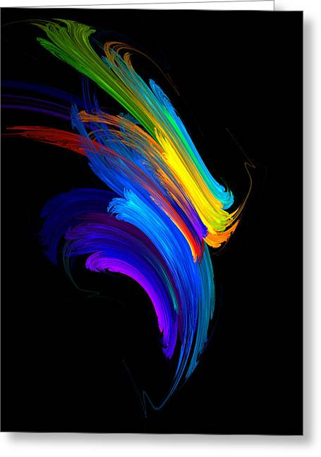 Algorithmic Abstract Greeting Cards - Joy Greeting Card by Jan Brieger-Scranton