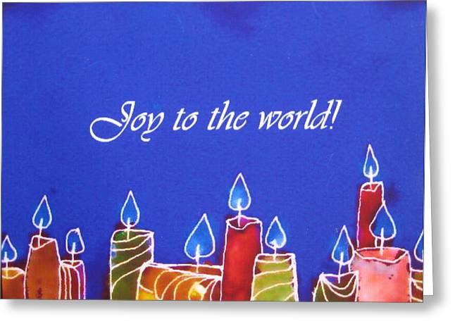 Joy To The World Greeting Cards - Joy to the World Greeting Card by Anne Duke