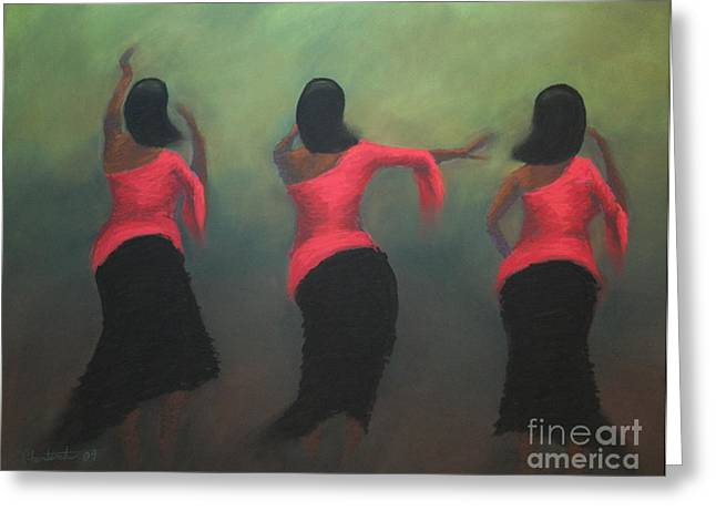 African-americans Pastels Greeting Cards - Joyous Greeting Card by Christine Fontenot