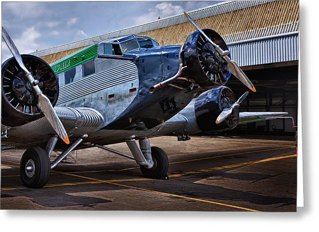 Ju 52 Greeting Cards - Ju 52 Greeting Card by Thomas  von Aesch