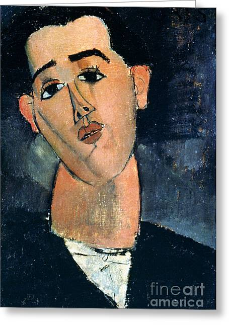 Modigliani Photographs Greeting Cards - Juan Gris (1887-1927) Greeting Card by Granger