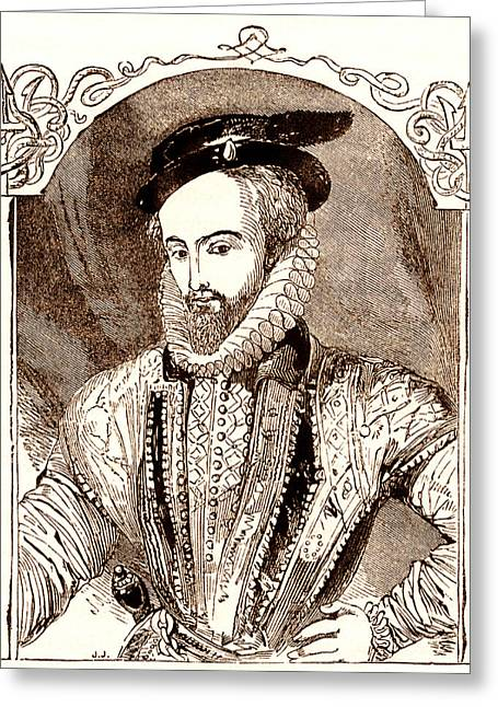 Ponce Greeting Cards - Juan Ponce De Leon, Spanish Explorer Greeting Card by Sheila Terry