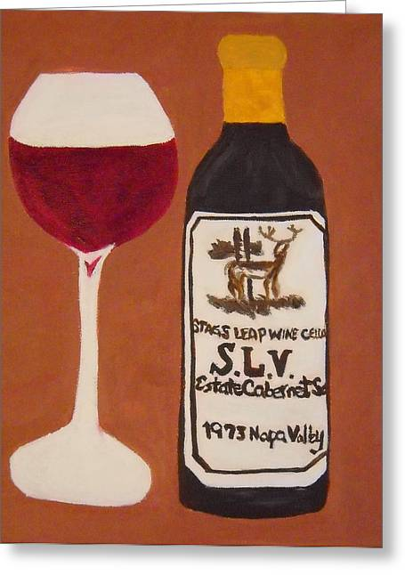 Red Wine Prints Greeting Cards - Judgement of Paris 2 Greeting Card by Kathleen Fitzpatrick