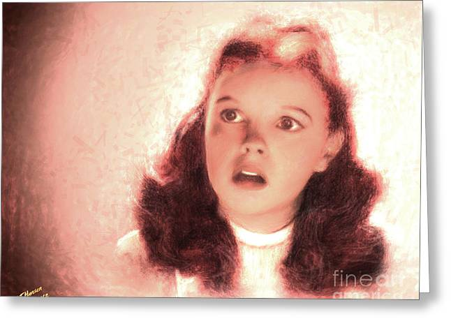 Hollywood Legend Greeting Cards - Judy Greeting Card by Arne Hansen