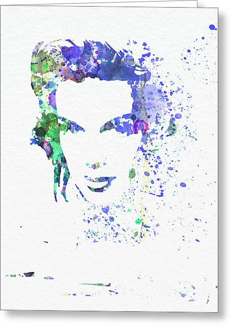 Movie Star Paintings Greeting Cards - Judy Garland 2 Greeting Card by Naxart Studio