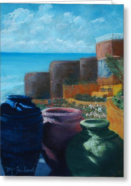 Tropical Oceans Pastels Greeting Cards - Juju Jars - Cancun Greeting Card by Lorraine McFarland