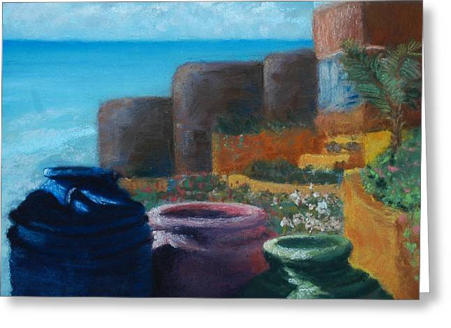 Juju Jars - Cancun Greeting Card by Lorraine McFarland