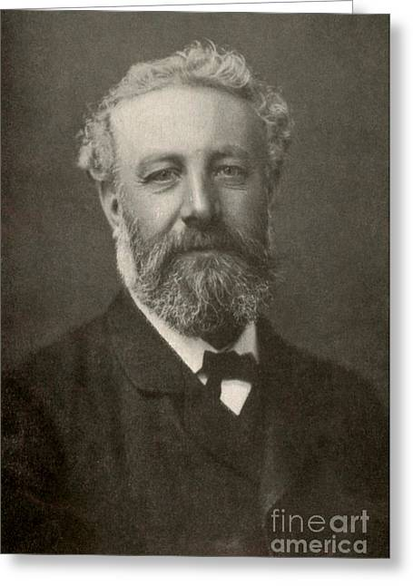 Adventure Of The Seas Greeting Cards - Jules Verne, French Author Greeting Card by Photo Researchers