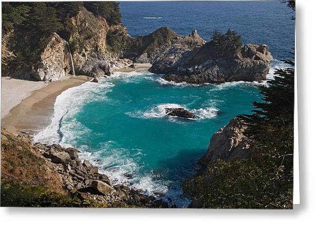 Big Sur California Pyrography Greeting Cards - Julia Pieffer Beach Greeting Card by Greg Iger