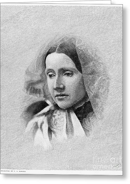 Abolition Greeting Cards - Julia Ward Howe (1819-1910) Greeting Card by Granger