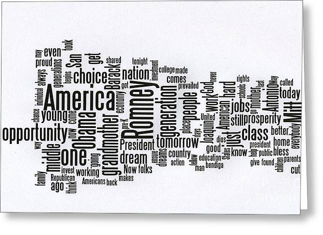 Convention Greeting Cards - Julian Castro Speech at D N C Greeting Card by David Bearden