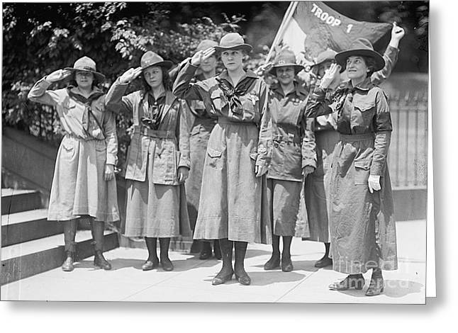 Juliette Low Greeting Cards - Juliette Daisy Low, Founder Of The Girl Greeting Card by Photo Researchers