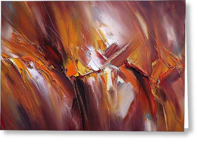 Abstract Geometric Greeting Cards - July Fires Greeting Card by Georgi Petrov