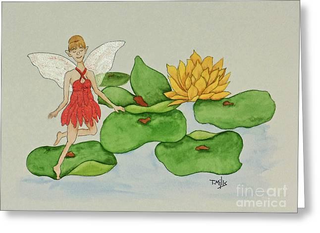 Terri Waters Paintings Greeting Cards - July Greeting Card by Terri Mills