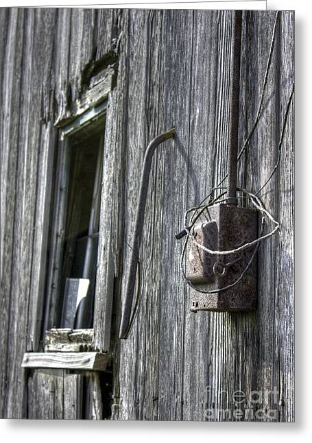 Abandonded Greeting Cards - Junction Box Greeting Card by David Bearden