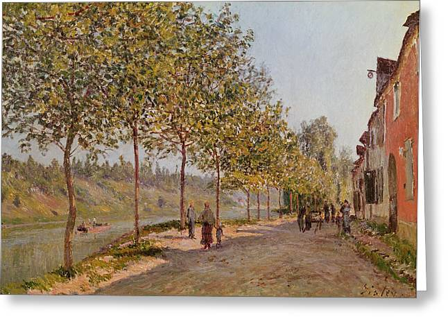 1884 (oil On Canvas) Greeting Cards - June Morning in Saint Mammes Greeting Card by Alfred Sisley