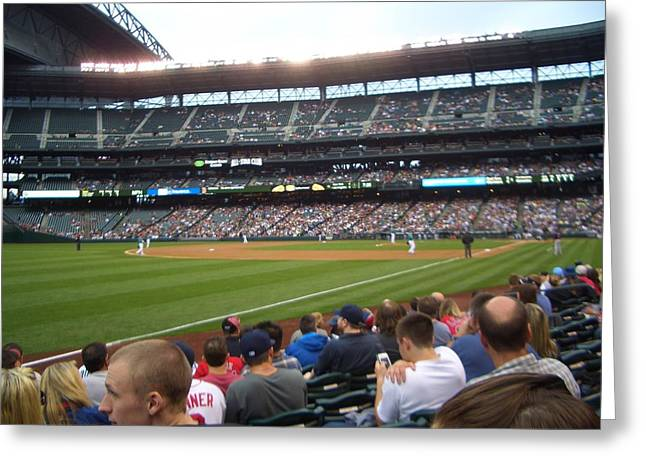 June Seattle Game With Red Sox Greeting Card by Erin Stepanek