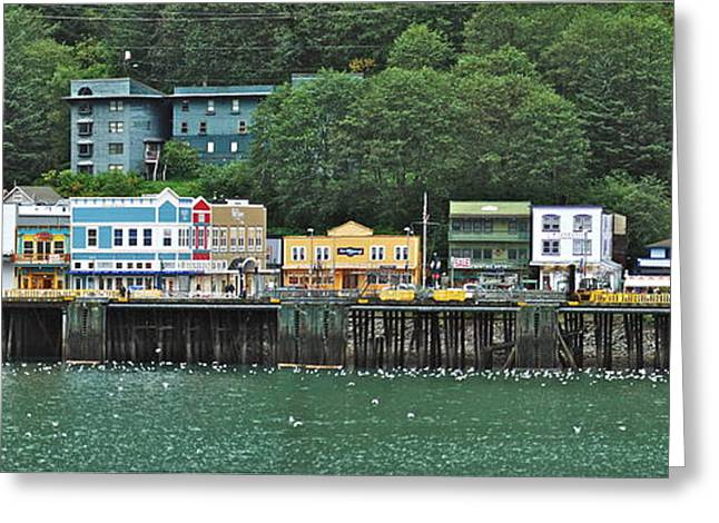 Alaskan Architecture Greeting Cards - Juneau Docks  Greeting Card by Michael Peychich