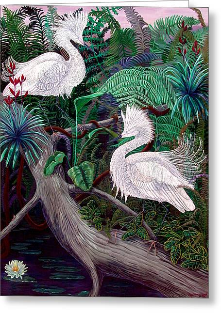 Jungle Dance Greeting Card by Lyn Cook