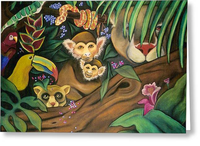 Juliana Dube Greeting Cards - Jungle Fever Greeting Card by Juliana Dube