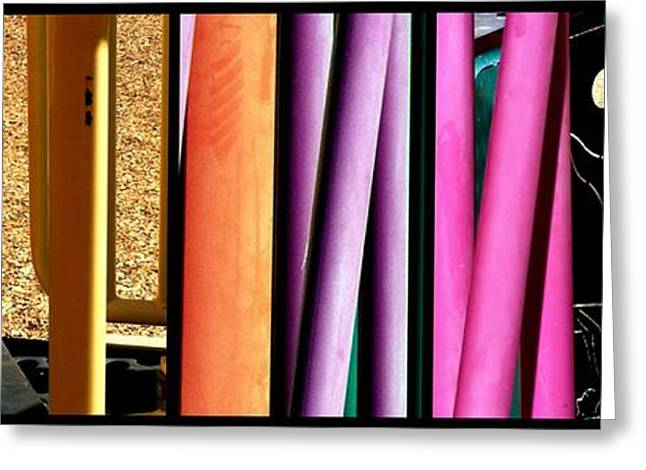 Abstract Expression Greeting Cards - Jungle Gym Greeting Card by Marlene Burns