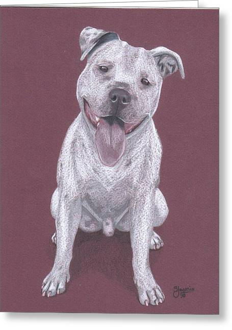 Bully Greeting Cards - Junior Greeting Card by Stacey Jasmin