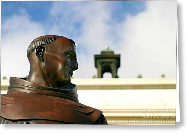 Ventura California Greeting Cards - Junipero Serra Greeting Card by Henrik Lehnerer