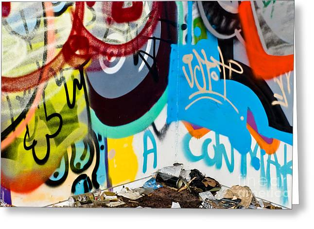 Aerosol Paintings Greeting Cards - Junk Graffiti Greeting Card by Yurix Sardinelly