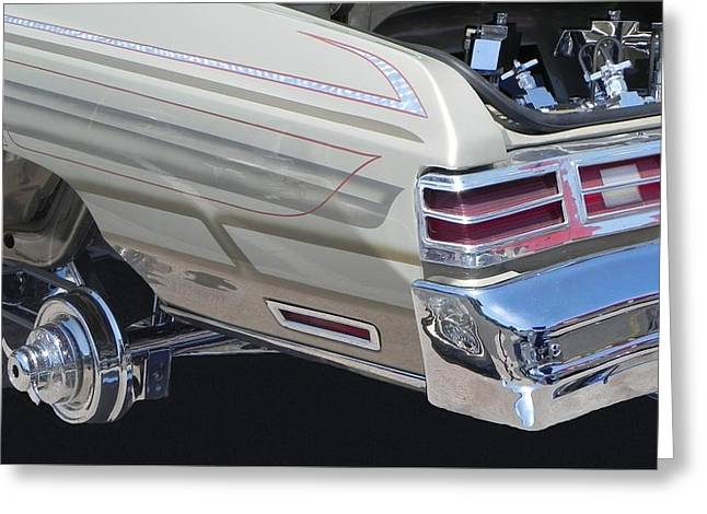 Tricked-out Cars Greeting Cards - Junk In The Trunk Greeting Card by Chuck Re