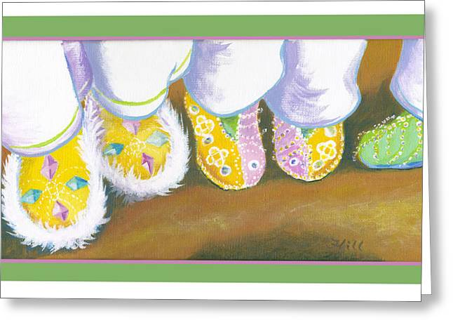 Junkanoo Shoes Greeting Card by Florence Bramley Hill