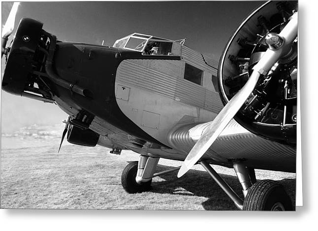 Ju 52 Greeting Cards - Junkers JU 52 1939 Greeting Card by Maxwell Amaro